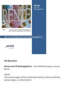Cover neue Rente